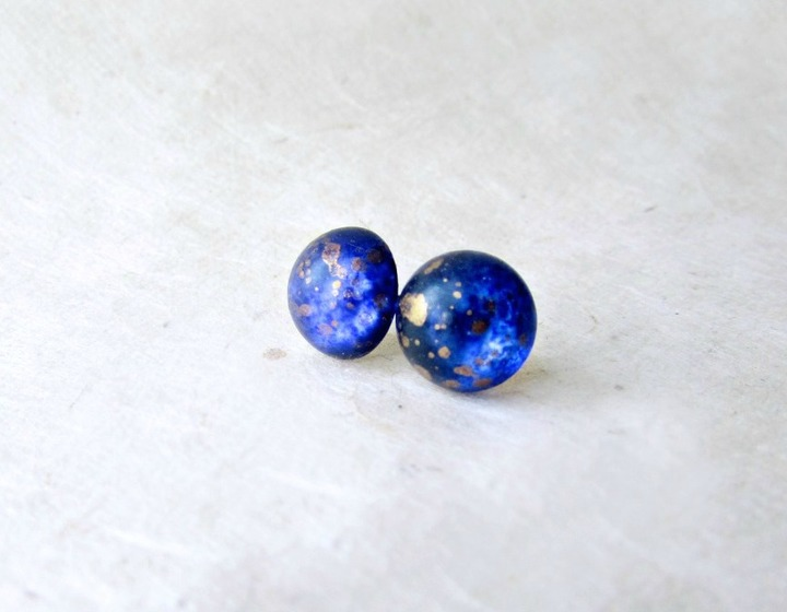 Indigo Galaxy Stud Earrings